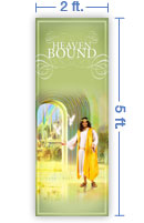 2x5 Vertical Church Banner of Welcome Home