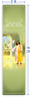 2x8 Vertical Church Banner of Welcome Home