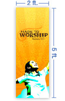 2x5 Vertical Church Banner of Wild Gratitude